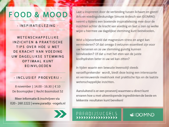 Flyer-Inspiratielezing-Food & Mood